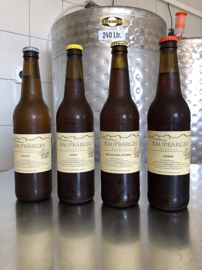 Bäupbärger Biersorten