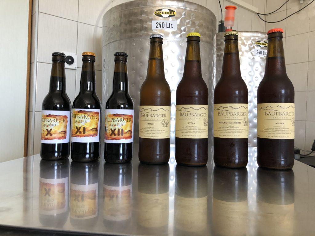 Gesamtes Bäupbärger Biersortiment