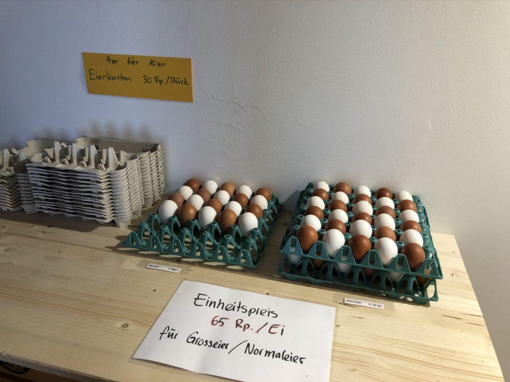 Belpberger Eier im Hofladen